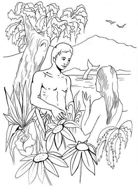 adan  eva en el huerto del eden