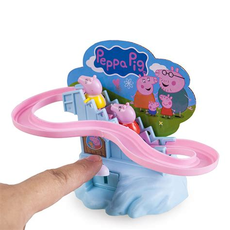 peppa pig amusement manual climb stairs track set playset for gift ebay