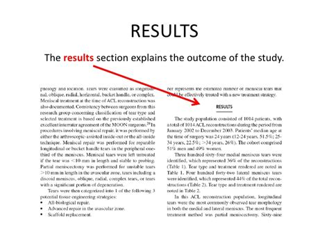 apa results section parts of a scholarly article