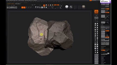tutorial zbrush rock zbrush rock sculpting workflow brushes used were the