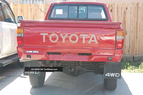 Toyota Hilux 1987 Model 1987 Toyota 4x4 Hilux Tacoma 22r Base Model Work