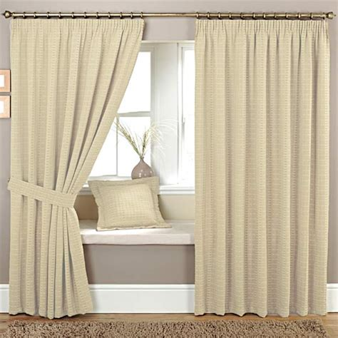 natural woven curtains curtina marlowe woven jacquard pencil pleat lined curtains