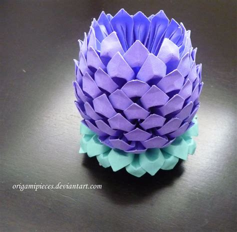 Easy 3d Origami - 3d origami lotus by origamipieces on deviantart