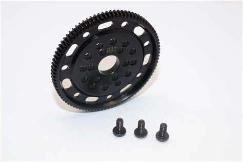 3racing Spur Gear 48 Pitch 89t Axial Racing Scx10 Steel 45 Spur Gear 48 Pitch 89t 1pc