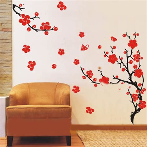wall stickers plum blossom flowers and branches wall sticker wall decals vinyl wall stickers by