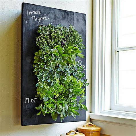 Wall Mounted Planters Grovert Wall Planter Integrates Chalkboard Frame For