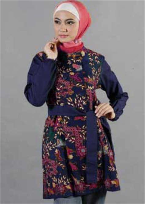Baju Muslim Batik Eksklusif Warna Warni Model Busana Batik Muslim Wanita Muslimah Modern