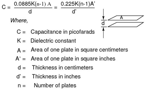 capacitor calculation formula lessons in electric circuits volume v reference chapter 1
