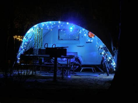 outdoor lights for rv awning 17 best images about holiday csite decorations on