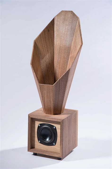 design speakers desktop horn speaker on behance