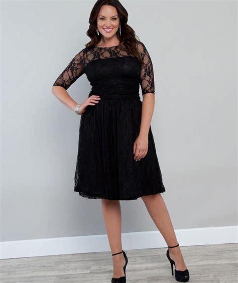 Long black lace dress plus size   PlusLook.eu Collection