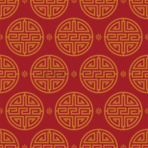 chinese gold pattern vector chinese pattern background vector image 1577041