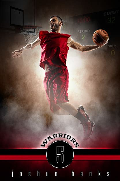 Player Banner Sports Photo Template Fantasy Basketball Photoshop Sports Template Free Basketball Photoshop Templates