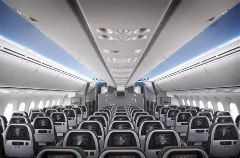 boeing 787 cabin american show 787 interiors thedesignair