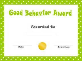 Reward Certificate Templates by Behavior Printable Certificates
