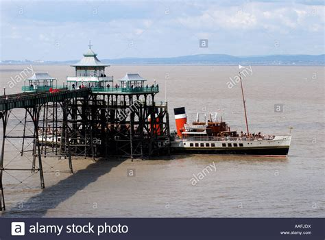 the waverley steam boat paddle steamer waverley at clevedon pier somerset