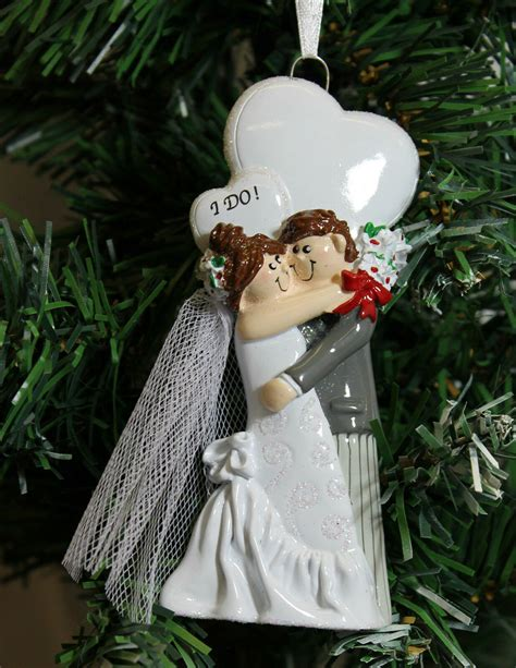 christmas for newlyweds personalised ornament for married newlyweds i do ebay