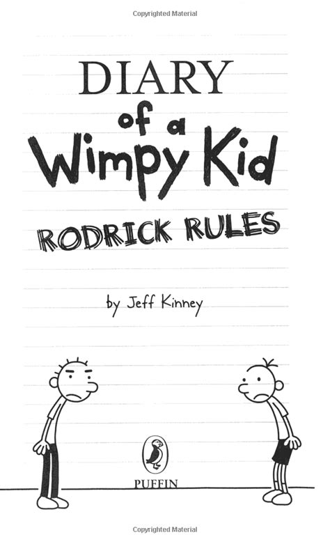 Diary Of A Wimpy Kid: Rodrick Rules - Book 2 (Penguin