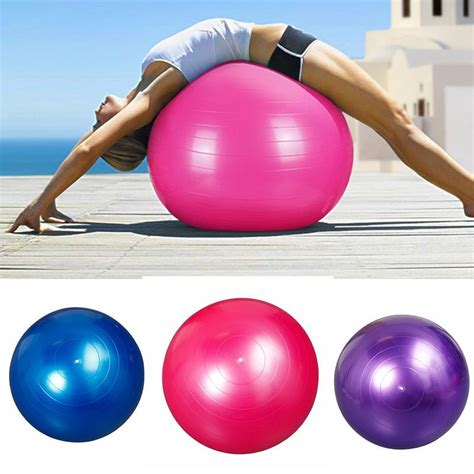 Bonus Pompa Bola Fitness bola pilates fitness 65cm blue jakartanotebook