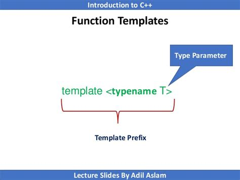 c template typename introduction to c lecture no 26