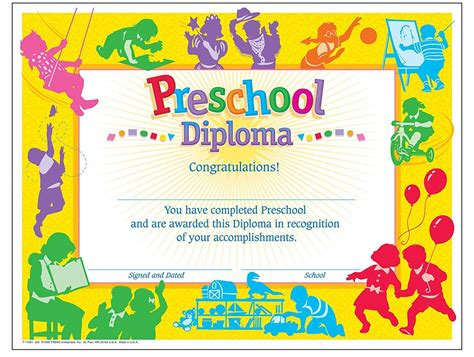 templates for preschool certificates graduation certificate template for preschool image