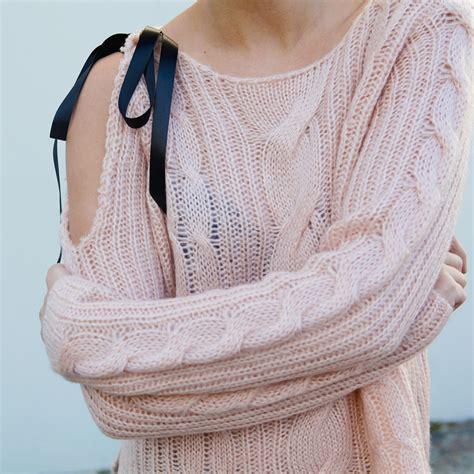 diy sweater diy bow sweater popsugar fashion