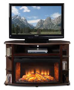 fireplace tv stands blaze corner fireplace tv stand java s