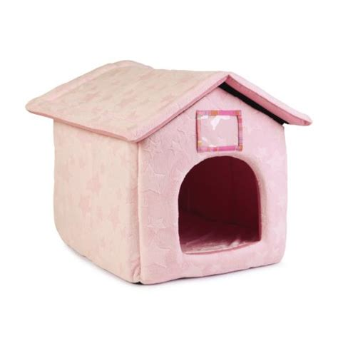 pink dog house bed ancol pink stars just 4 pets fun house cat dog bed