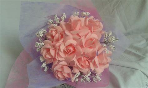 Jual Buket Bunga Mawar Pink by Gambar Membuat Sendiri Bola Bunga Mawar Kertas Krep Loexie