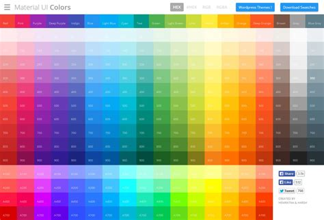quot material ui colors quot that colors available for