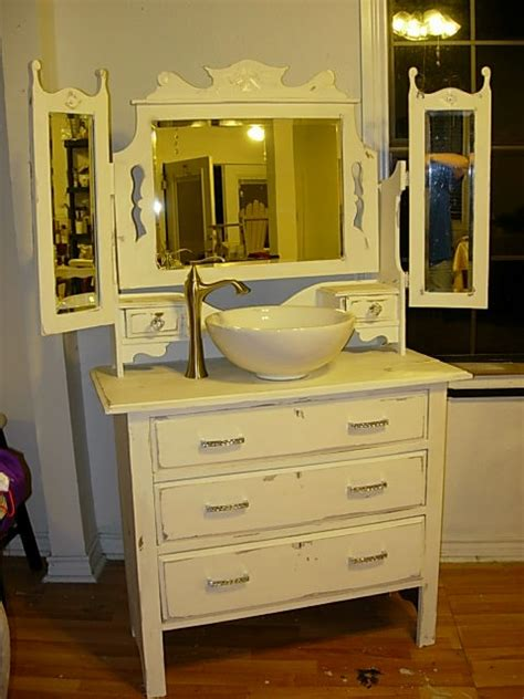 dressers made into sinks antique dresser made into sink cabinet diy bathroom