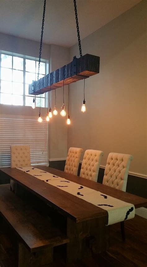wood beam chandelier rustic wood beam chandelier with edison blub lights