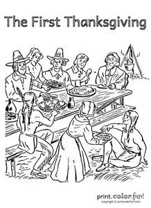 the first thanksgiving coloring pages first thanksgiving coloring page print color fun