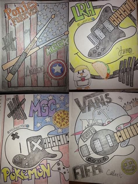5 Second Sketches by 5sos Drawings