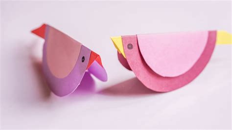 Paper Bird Craft - swinging paper bird craft ideas craftikids 3
