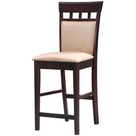 24 inch bar stools with backs popular dining room decoration coaster hyde 24 quot upholstered panel back cappuccino counter