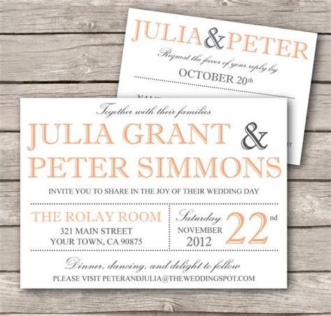modern invitation templates modern wedding invitation template printable diy wedding