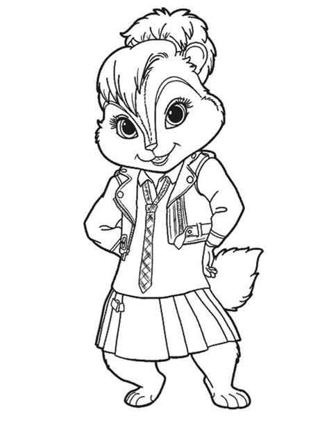 Alvin And The Chipmunks Coloring Pages To Print Free Alvin And The Chipmunks Colouring Pages
