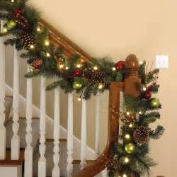 the cordless prelit ornament garland hammacher schlemmer