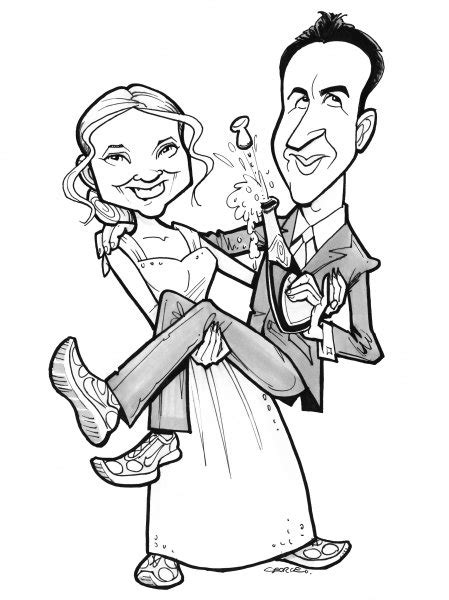 wedding invitations caricature drawings caricature wedding invitations