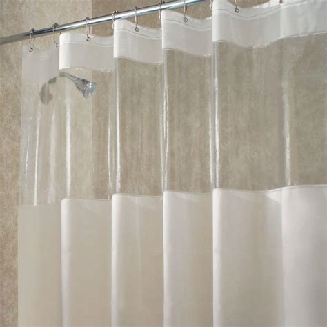 longer shower curtain interdesign hitchcock long shower curtain in clear 27580