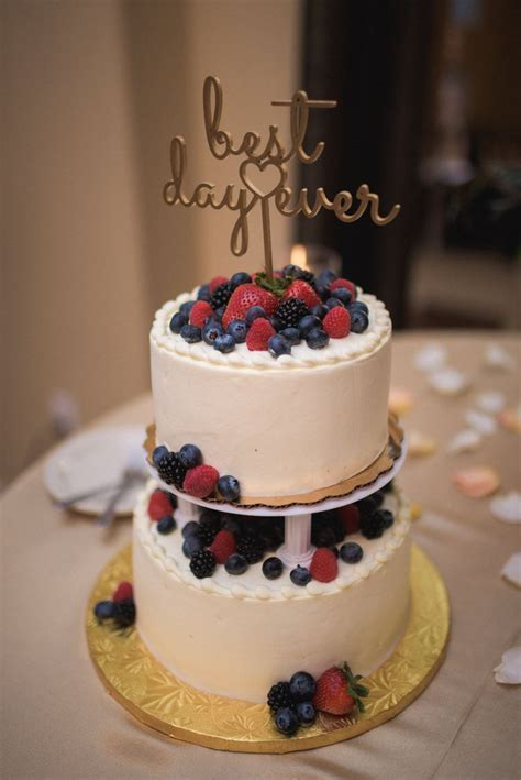 Whole foods Berry Chantilly wedding cake   9 19 15