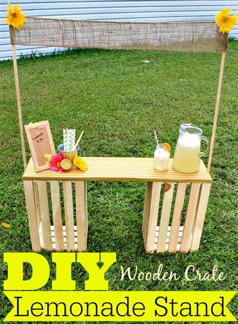 diy lemonade stand diy wooden crate lemonade stand kid crafts play