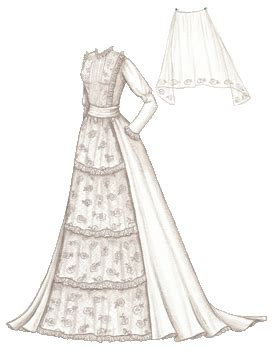 Paper Dolls With White Wedding Dresses by Swan S Of Green Gables Inspired Wedding Gown
