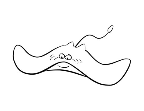 stingray coloring page colordad