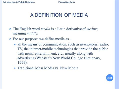 theme advertising definition chapter 3 a theoretical basis for public relations ppt