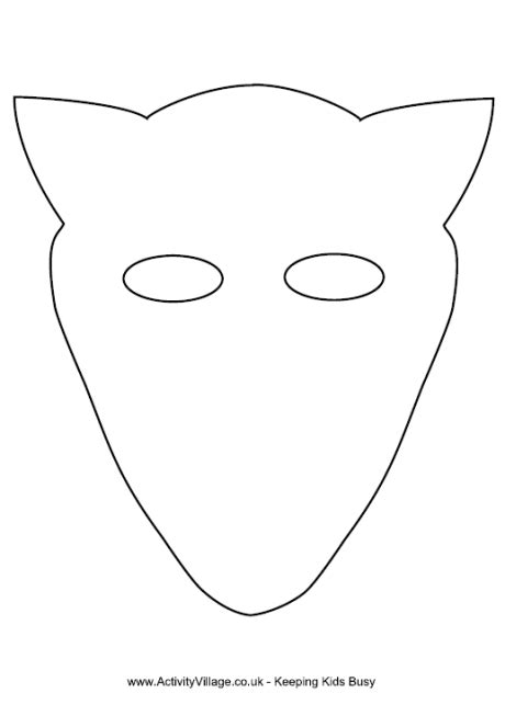 fox mask template crafts pinterest