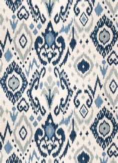 vern yip throw navy blue and teal woven ikat upholstery fabric