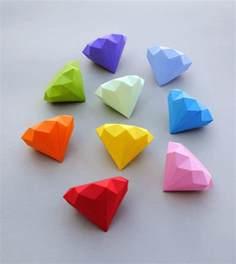 Origami Diamonds - 3d paper origami the idea king