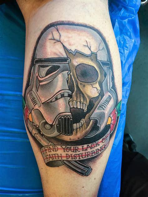 stormtrooper helmet tattoo 20 wars stormtrooper leg tattoos